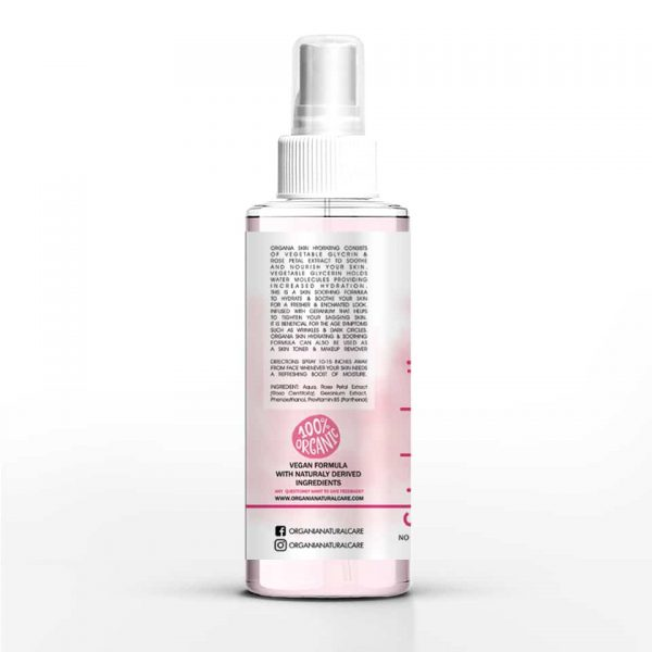 Organia Skin Hydrating Facial Mist with Rose - side